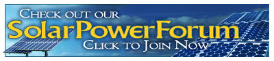 Solar power forum message board