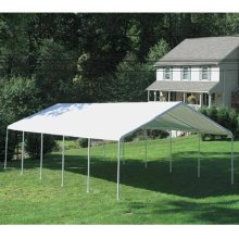 Shelterlogic 10159 18 39 x20 39 white canopy replacement cover for 18x40 frame